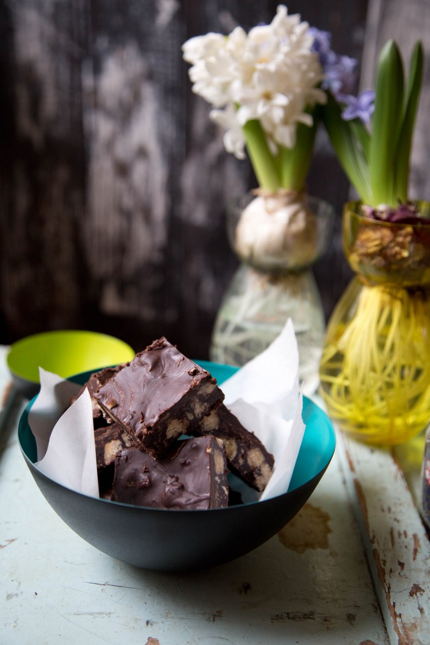 sea salt chocolate squares