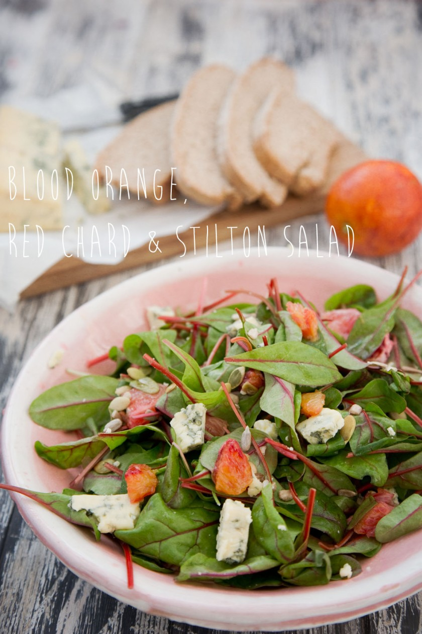 blood orange stilton salad