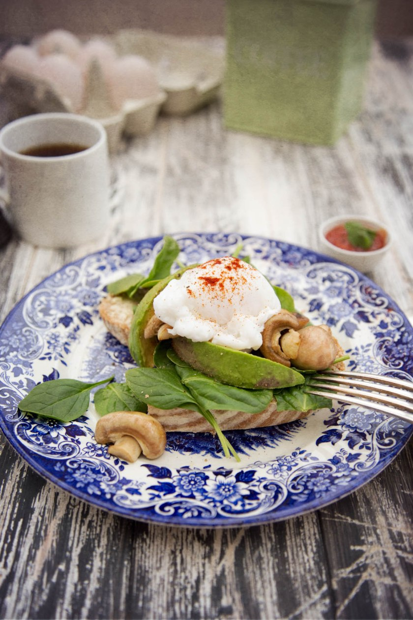 poached duck eggs