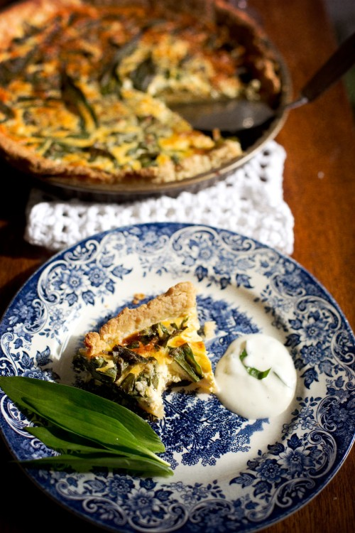 quiche wild garlic
