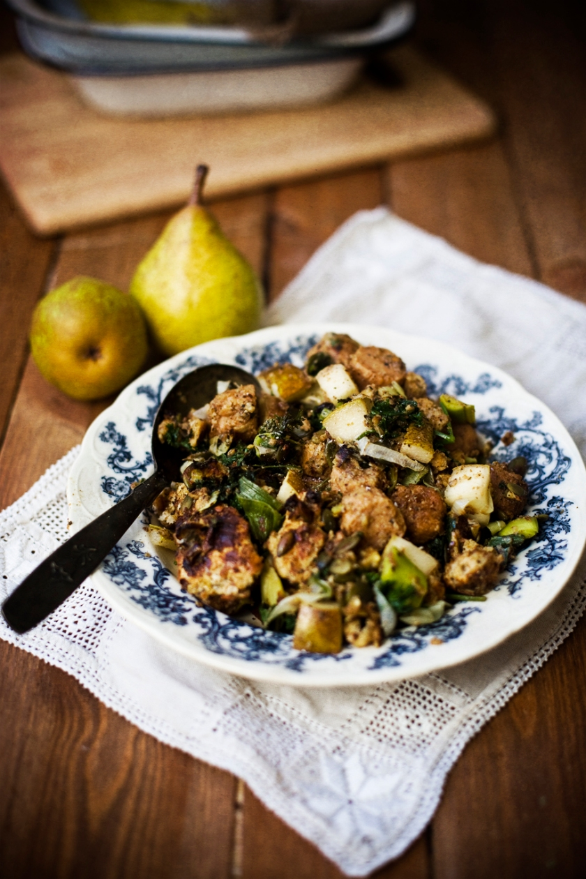 veggie stuffing with pear