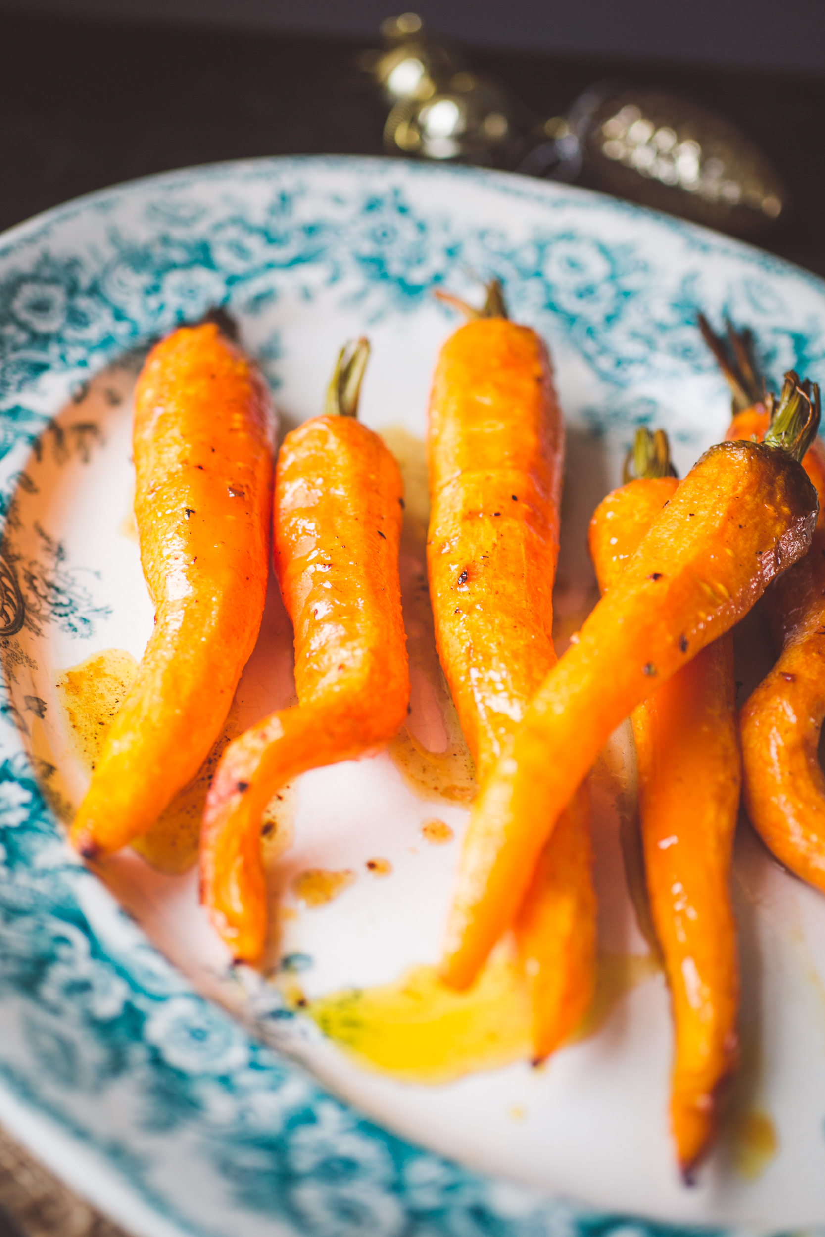 Beer Roasted Carrots