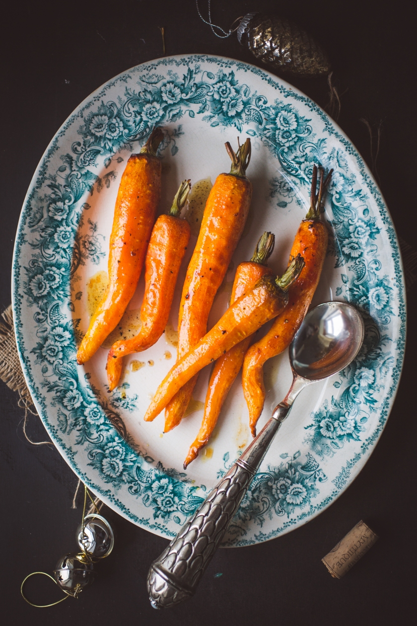 Beer and Honey Roasted Carrots
